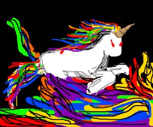Neon raianbow maned unicorn