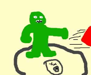 Hulk punches Thor