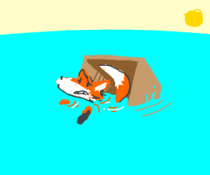 Fox in a box, drowning.....