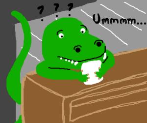 Dinosaur asking for botisco