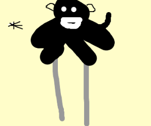 King kong sits on tx and spits on flies