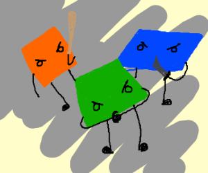square, rhombus & trapezium bullies