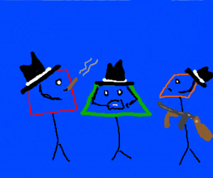 Square, trapezoid and parelogram mobster