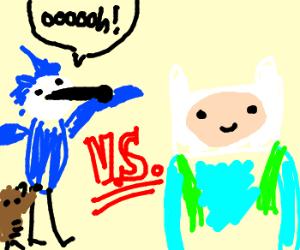 Regular Show Vs Adventure Time
