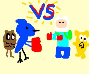 The Regular Show VS. Adventure Time