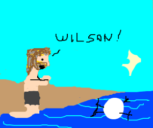 Wilson swims away from Castaway