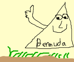 The Bermuda triangle supports grass