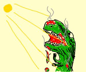 T-Rex Disintegrates Under Harsh Sunlight