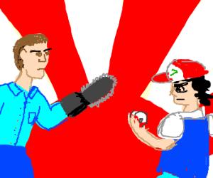 Ash (evil dead) VS. Ash (Pokemon)