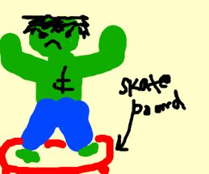 hulk skateboarding