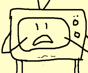 The tv is aghast.