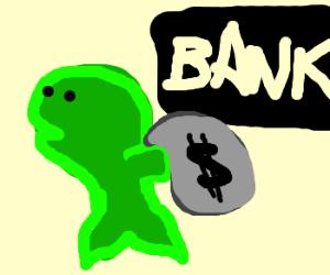 green fish rob bank