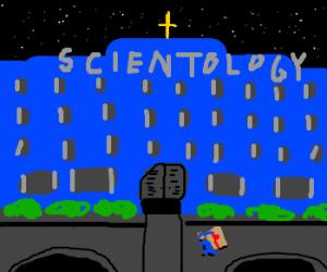 Solid snake infiltrating scientology