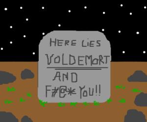 Voldemorts rude tombstone