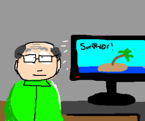Mr.Garrison addicted to Reality TV