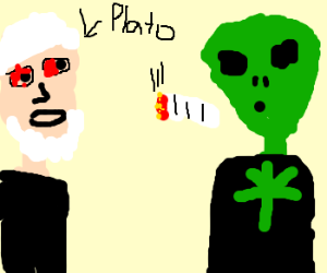 Philosophy: Plato getting high w/ aliens