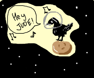Space Crow sings copywrited Beatles work