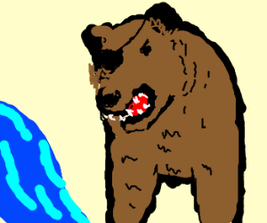 One eyed bear
