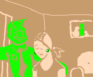 green dude is her daddy now