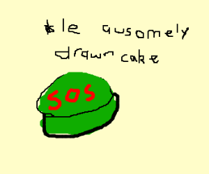 Green SOS cake