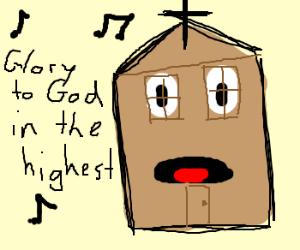 Sentient church sings the lord's praises