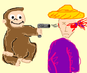 Curious George murders Man in Yellow Hat