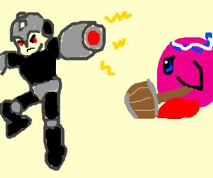 kirby vs. evil megaman