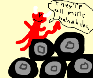 Satan steals all wheels in world
