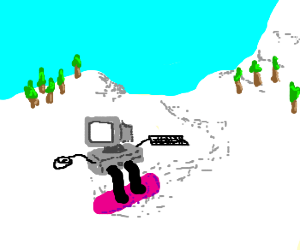 Computer snowboarding