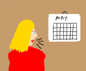 Blond With No Arms yells at Calander