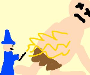 Wizard kills giant.