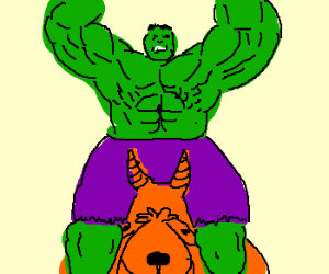 The Hulk on a SpaceHopper