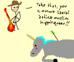 Ted Nugent Shoots A Unicorn