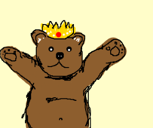 King grizzly, ruler of all bears.