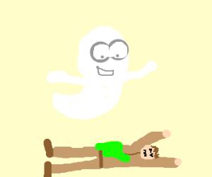 Casper slimes Ghostbuster