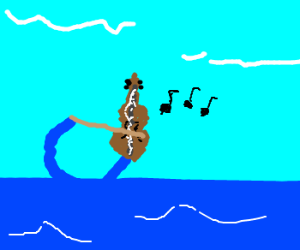 The ocean serenades all with a violin