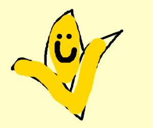 Banana is happy that it has been peeled