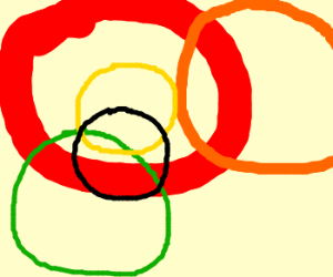 crazy overlapping circles