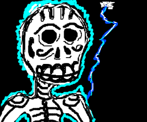 day of the dead man is hit by lightening
