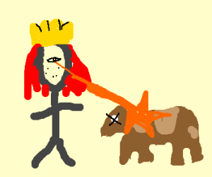 Ginger King kills cows with his eyes