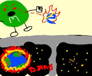 evil m&m destroys internet. END of world
