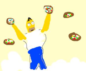 Homer Simpson in heaven