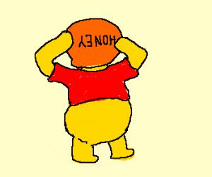 pooh s head stuck in honey jar drawception