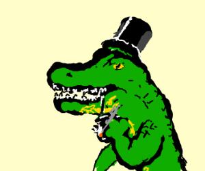 Fancy Alligator wears his top hat today