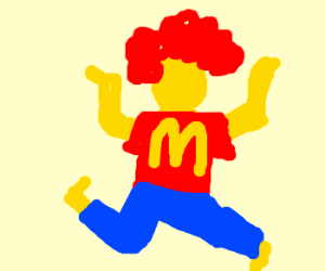 Ronald McD dances the flamenco.