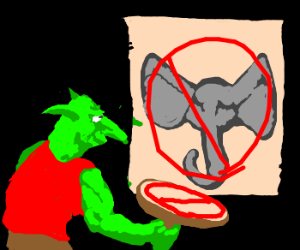Goblin reprimands Dumbo