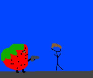 killer strawberry attacks guy