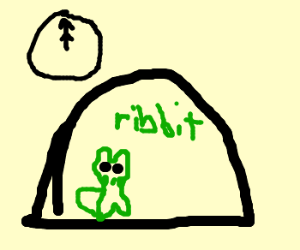 In the frog hut at midnight