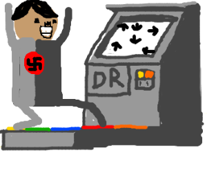 Hitler playing Dance Revolution