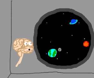 Brain Contemplates Space
